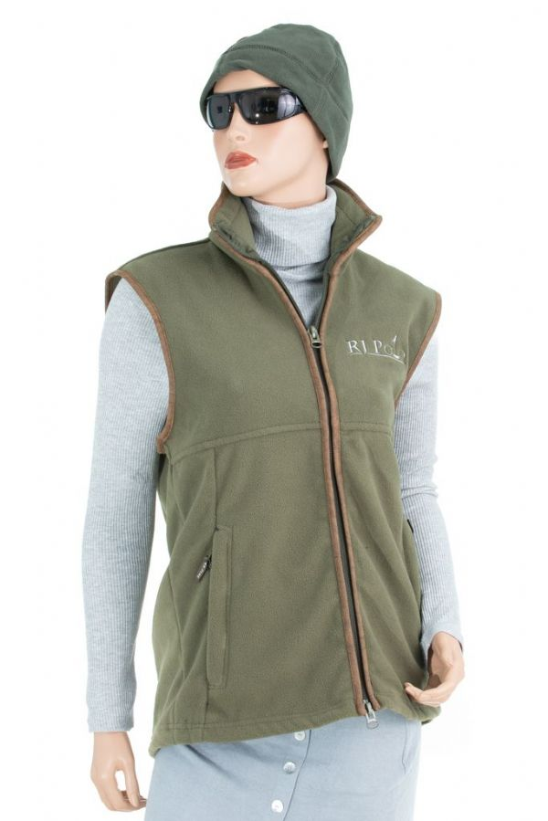 RJ Polo Fleece Gilet in Green
